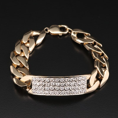 14K Yellow Gold 3.50 CTW Diamond Bracelet