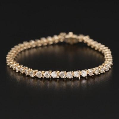 14K Gold 4.46 CTW Diamond Link Bracelet