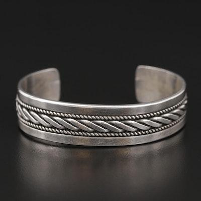 Ron Yazzie Navajo Diné Sterling Silver Cuff Bracelet