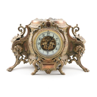 Louis XIV Style Mantel Clock by Waterbury Clock Company, Late 19th Century