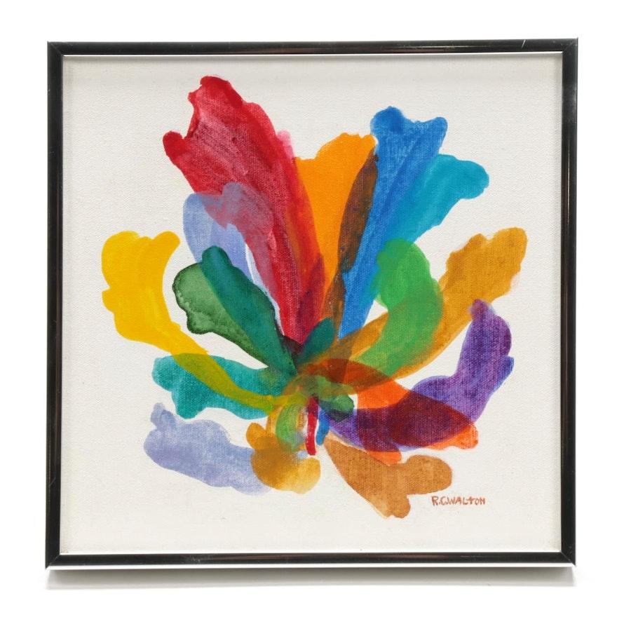 """Ramona C. Walton Acrylic Painting """"Acrylic Plume II"""""""