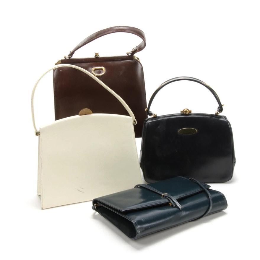 Morris Moskowitz, Bag by Dorian, Jay Herbert Leather Handbags, Vintage