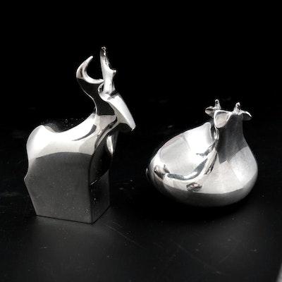 Dansk Deer and Bear Miniature Figurines