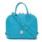 Dooney & Bourke Turquoise Saffiano Leather Top Handle Convertible Bag