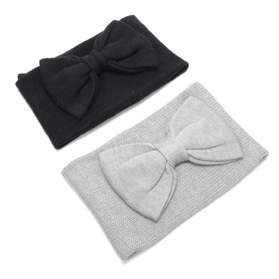 Kate Spade New York Knit Infinity Scarves with Bow