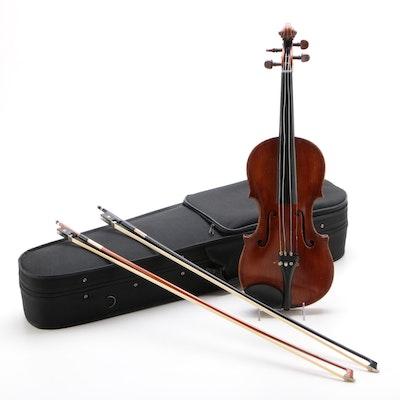 4/4 Maggini Copy Violin with Bows and Case