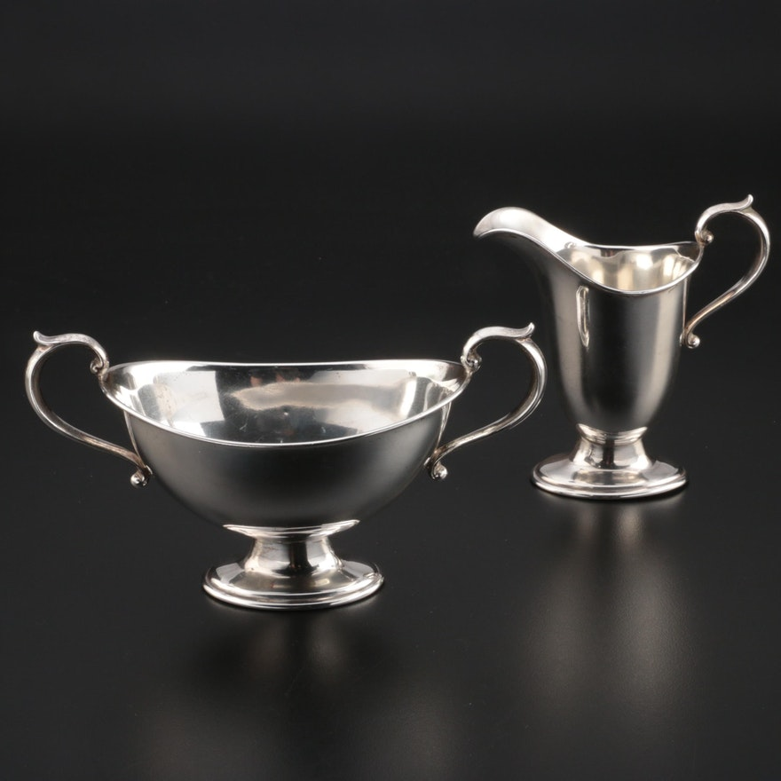 Gorham Sterling Silver Creamer and Sugar, Early 20th Century