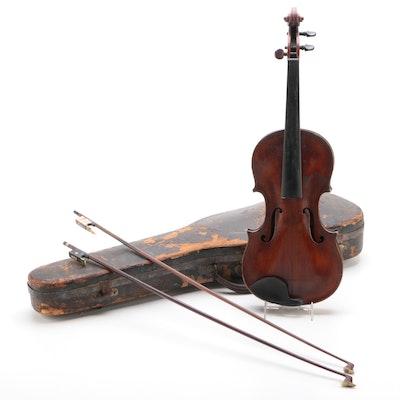 Gioffredo Cappa Copy 4/4 Violin with Bows, Late 19th Century