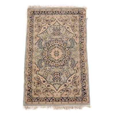 3'2 x 5'7 Hand-Knotted Persian Isfahan Wool Rug