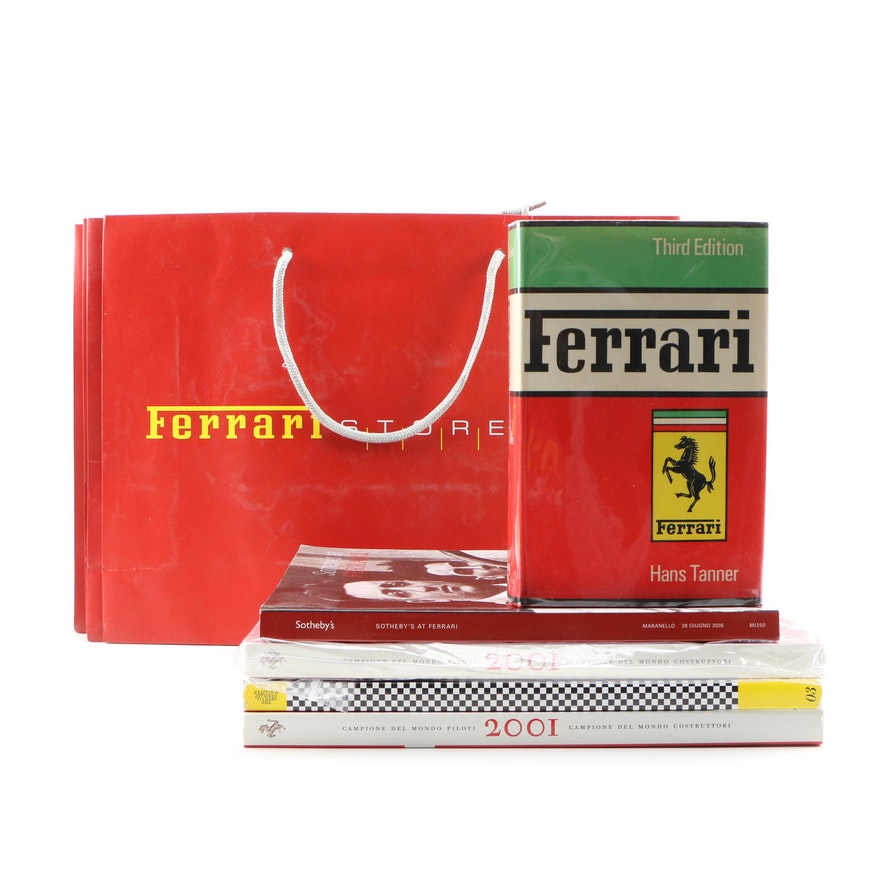 "1968 ""Ferrari"" by Hans Tanner with Other Ferrari Books and Miscellanea"