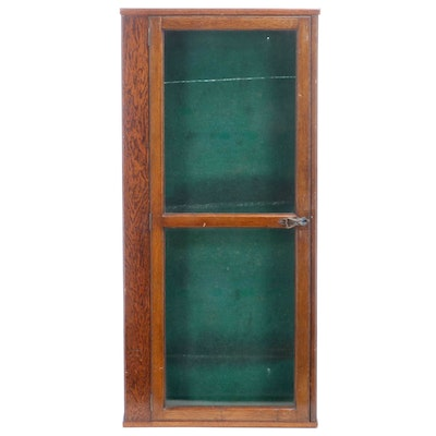 Oak Gun Display Cabinet, Early 20th Century