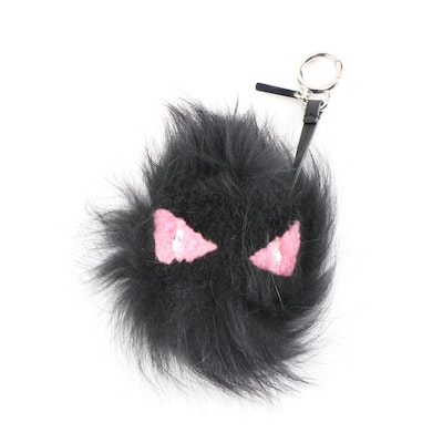 Fendi Fox Fur and Shearling Pinky Punky Monster Bag Charm