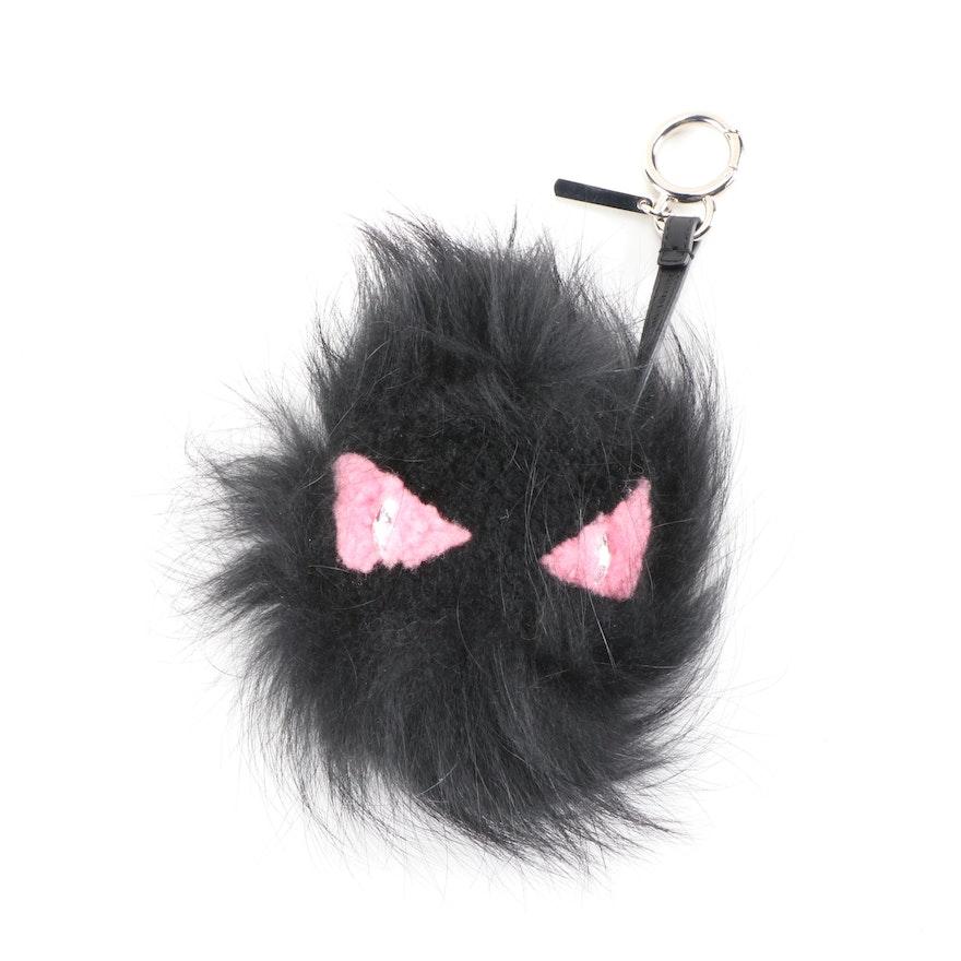 Fendi Fox Fur and Shearling Pinky Punky Monster Bag Charm