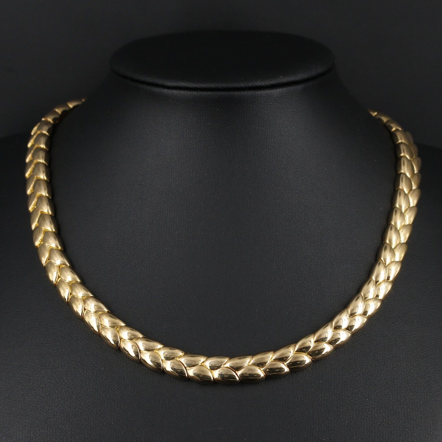 Van Cleef & Arpels 18K Gold Fancy Link Necklace