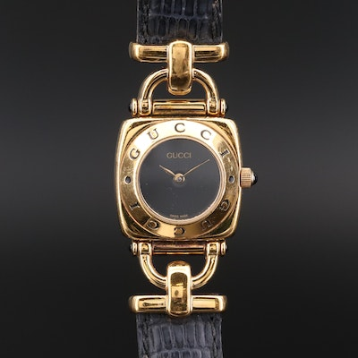 Vintage Gucci 6300L Gold Tone Quartz Wristwatch