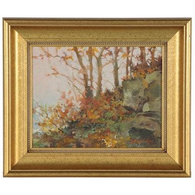 Michael C. McGuire Autumn Landscape Oil Painting