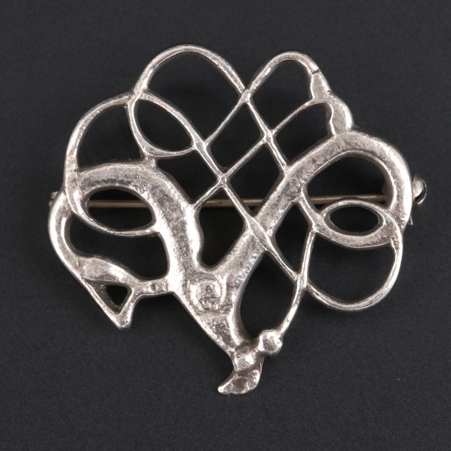 Norwegian Sterling Silver Reproduction Brooch
