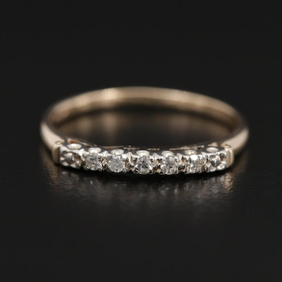14K Gold Diamond Band