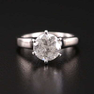 14K White Gold 2.00 CT Diamond Solitaire Ring