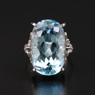 Platinum 13.97 CT Aquamarine Ring