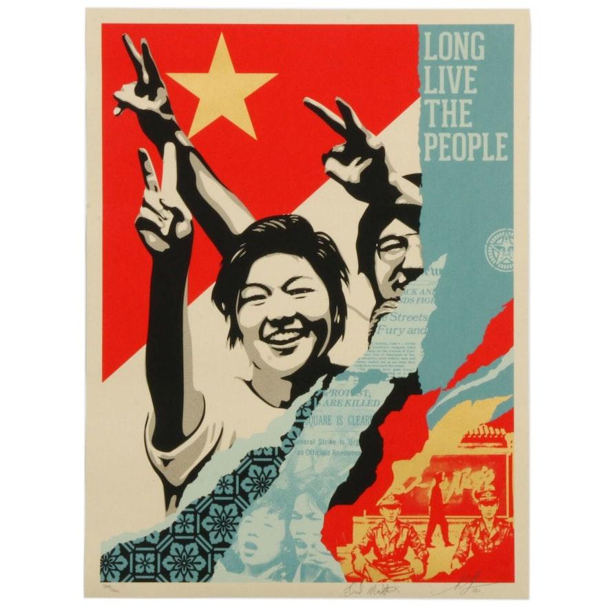 "Shepard Fairey Screenprint ""Long Live the People"", 2020"