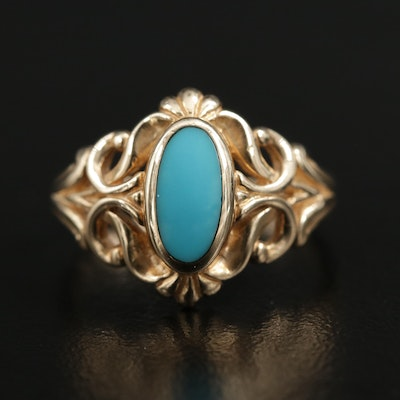 Kabana 14K Yellow Gold Turquoise Ring