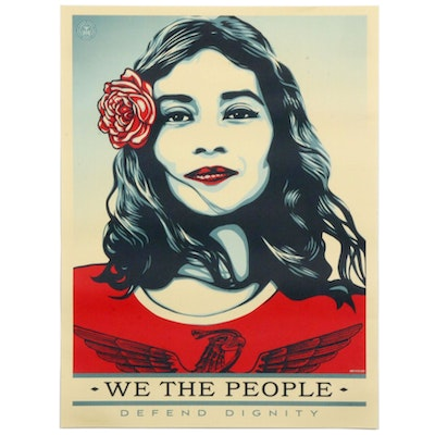"Shepard Fairey Offset Print ""We the People: Defend Dignity"""