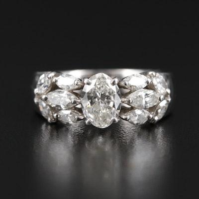 Platinum 2.16 CTW Diamond Ring