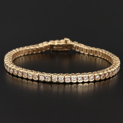 14K Yellow Gold 3.57 CTW Diamond Tennis Bracelet