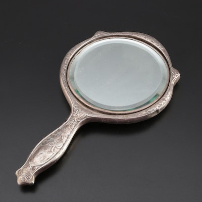 R. Blackinton & Co. Art Nouveau Sterling Silver Hand Mirror