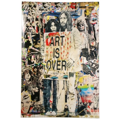 "Offset Poster Print after Mr. Brainwash ""John Lennon & Yoko Ono: Art is Over..."""