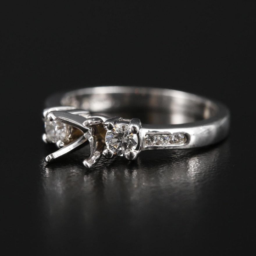 14K Diamond Semi-Mount