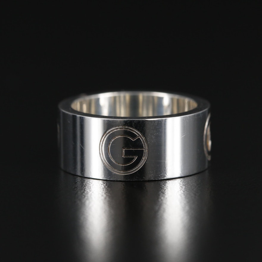 Gucci Sterling Silver 'G' Ring
