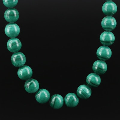 14K Gold Malachite Necklace