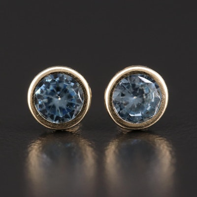 10K Gold Cubic Zirconia Stud Earrings