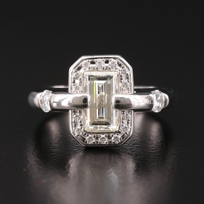 Platinum 1.32 CTW Diamond Ring