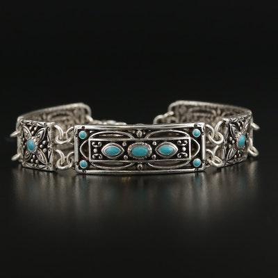 Brighton Blue Resin Panel Bracelet