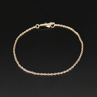 14K Yellow Gold Rope Link Bracelet