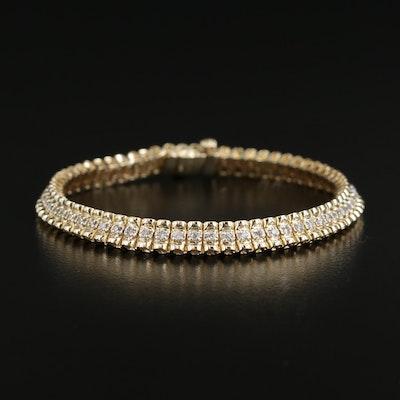 14K Yellow Gold 1.02 CTW Diamond Bracelet