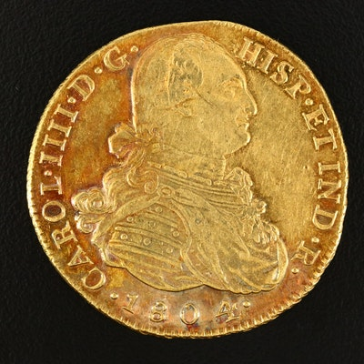 1804 Colombian Eight Escudos Gold Coin