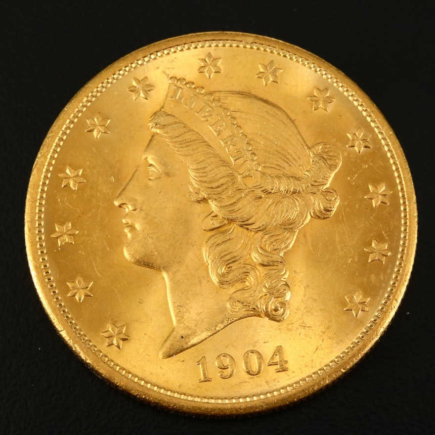 1904 Liberty Head $20 Gold Coin