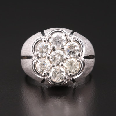 14K White Gold 2.62 CTW Diamond Ring