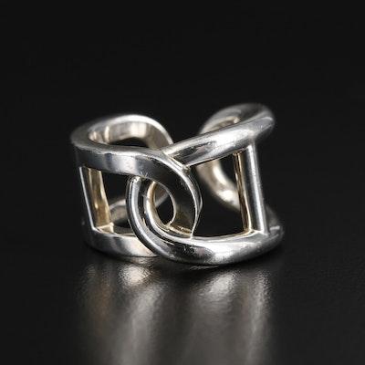 """Hermès """"Chaîne d'Ancre Enchainee"""" Sterling Ring"""