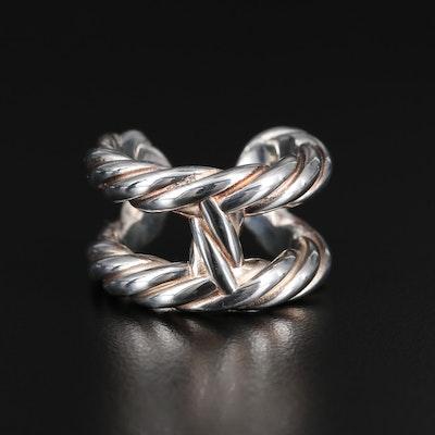 "Hermès ""Chaîn d'Ancre Osmose"" Sterling Twisted H Ring"