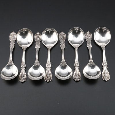 "Reed & Barton ""Francis I"" Sterling Silver Cream Soup Spoons"