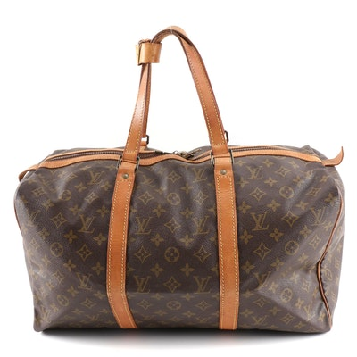 Louis Vuitton Sac Souple in Monogram Canvas and Leather