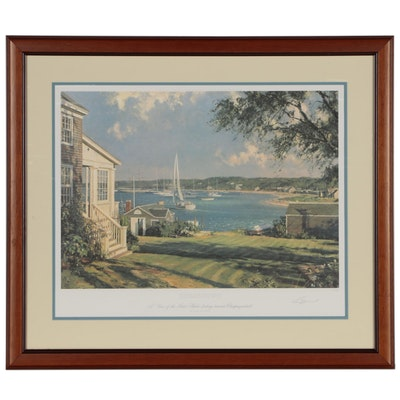 "John Stobart Offset Lithograph ""Edgartown'"