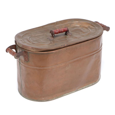 Lidded Copper Boiler Tub, Early 20th Century