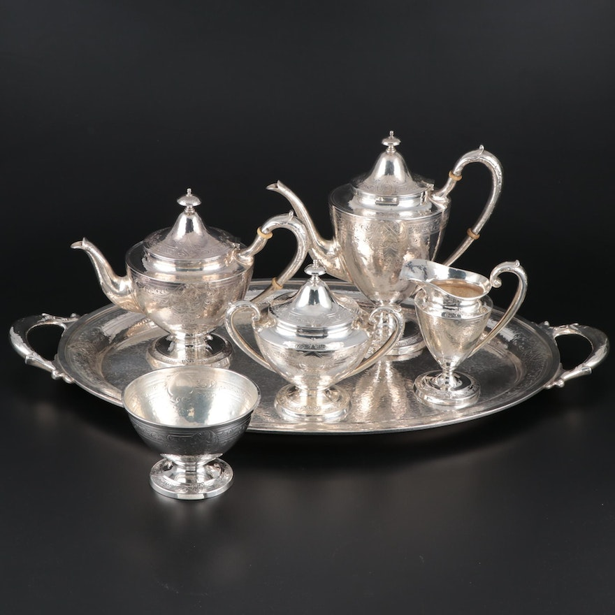 Gorham Arts and Crafts Sterling Silver Assembled Tea and Coffee Service