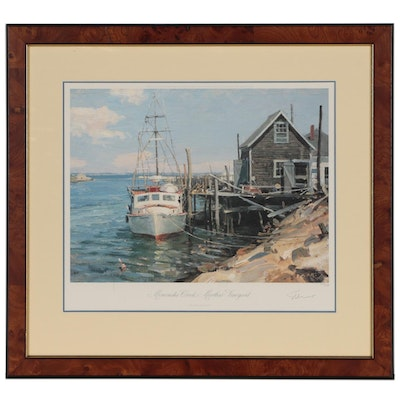 "John Stobart Offset Lithograph ""Menemsha Creek, Martha's Vineyard"""